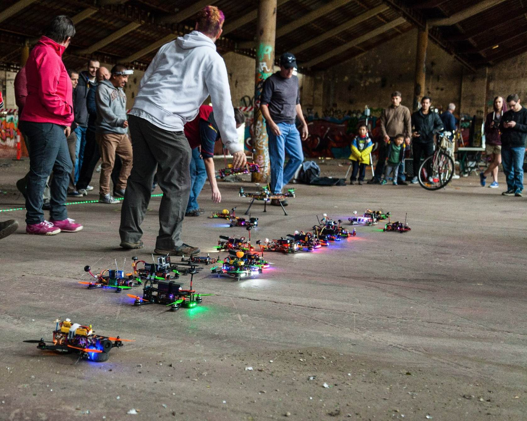 Drone racing started underground, in abandoned buildings.
