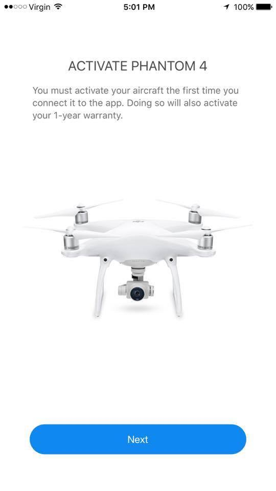 dji phantom firmware downloaded but cant update