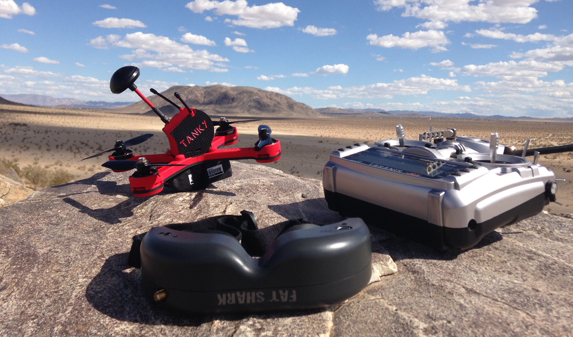 Tanky drone in the desert.