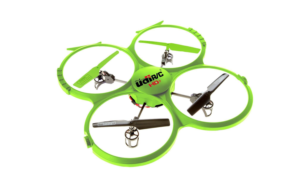 force1 udi 818a hd lime green quadcopter