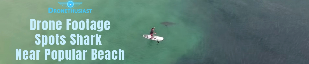 drone footage spots shark near beach